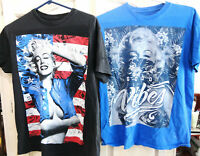 L@@K Lot of 2 Marilyn Monroe Sexy T-shirts Size Medium Excellent Condition