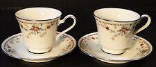 TWO Noritake Adagio Tea Cup Saucer Sets 7237 2 Sets EXCELLENT!