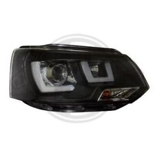 LHD Projector Headlights Pair LED lightbar DRL Clear Black For VW T5 Multivan