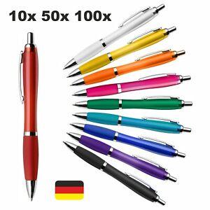 Kugelschreiber Kuli Druckkugelschreiber viele Farben Großraummine 10x 50x 100x