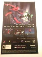 2002 Video Game Print Ad - SPIDER-MAN - PS2 XBOX GBA GAMECUBE MARVEL ACTIVISION