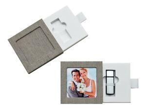 USB-Box/Schuber. Leinenstoff