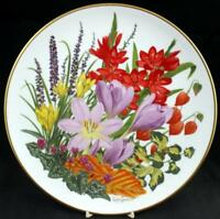 Franklin Mint FLOWERS OF THE YEAR Collector Plate November GREAT CONDITION
