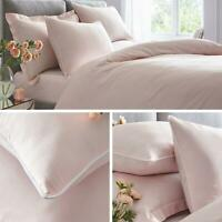 Blush Duvet Covers Plain 100% Cotton 200 Thread Count Pink Quilt Bedding Sets