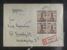 1944 Hamburg Germany Registered Cover Locally Used