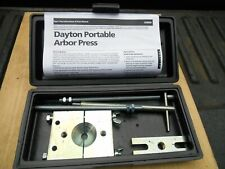 DAYTON Portable Arbor Press - 3ZM98 w/ Carrying Case.