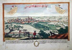 Radierung, Weil der Stadt, F. B. Werner/ J.C. Leopold, um 1730, selten