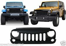 Front Gloss Black Angry Bird Grill For 2007-2017 Jeep Wrangler New Free Shipping