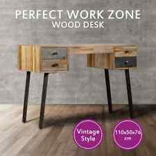 vidaXL Writing Desk Solid Reclaimed Teak Computer Table Home Office Drawers