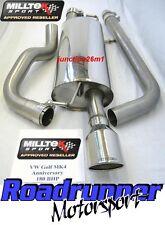 """Milltek Golf MK4 Anniversary 180BHP Exhaust System Cat Back Non Res 4"""" GT100 Tip"""