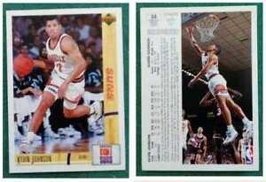 Figurina Card NBA KEVIN JOHNSON n.84 upper deck 1991-92 phoenix suns no vhs dvd