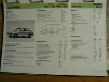 HONDA CIVIC 1977-1979 INFO TECHNICAL INFORMATION CAR AUTO OLY054
