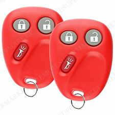 Replacement for 2003 2004 2005 2006 Chevy Silverado Remote Car Key Fob Pair Red