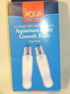 Aquarium Plant Growth Bulb by Aqua Culture 15W/120V Pre-Tested Incandescent 2 pk