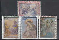 Dahomey 1968 Christmas Paintings Sc C89-C92 Cplte  Mint Never Hinged