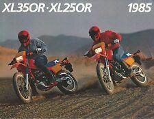 1985 Honda XL350 R - XL250 R Motorcycle Sales Brochure - Literature