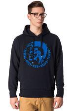 DIESEL Size S Men's SCENTYN-S 2RHQI Glued Velour Long Sleeve Pullover Hoodie