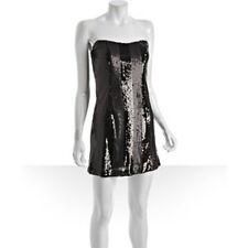 Allen Schwartz Prive Black/Gray Sequin Strapless Dress **Size 4**