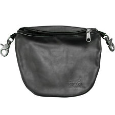 Hugger Geniune Leather Belt Bag Motorcycle Riders Hip Purse Studded Waist Pouch