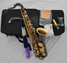 Professional Black nickel plated C Melody sax saxophone Gold bell with case