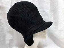 Black Rasta Newsboy Tam Dread Locks Hat Winter Acrylic Thick Warm Ear Flap Long
