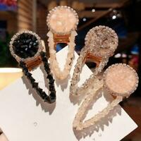 Crystal Bead Hair Clip Hairband Comb Bobby Pin Barrette Hairpin Headdress  Top