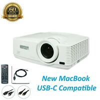 Mitsubishi WD570U DLP Projector - 1080p New MacBook USB-C Compatible (bundle)