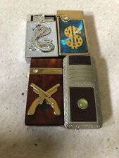 Lot Of 4 Jet Lighters Mixed Lot