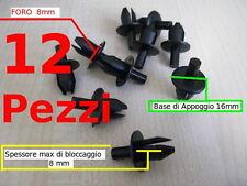 Fermi viti ganci rivetti plastica per carene in vetroresina 8mm PERNO