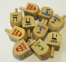 Chanukah Hanukkah Dreidels Wood lot of 5 Brand New Fast Free shipping