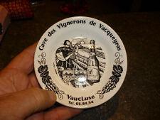 Ancien Cendrier Coupelle Cave des Vignerons de Vacqueyras ( Vin Vignoble Raisin