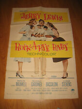 ROCK-A-BYE BABY Orig, 1sh Movie Poster '58 Jerry Lewis with Marilyn Maxwell,