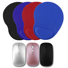 2.4Ghz Rechargeable Wireless Mouse USB Receiver EVA Mice Pad Mat For Laptop PC