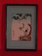 Deux hérons, peinture chinoise en plume , 1950