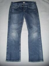 Womens Silver Jeans Size 28 Tuesday Capri Thick Stitch NICE Cropped Distressed