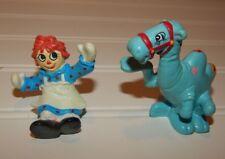 1988 Raggedy Ann and Andy Camel & Raggedy Ann PVC Figure Toy Lot GUC