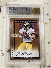 2000 Score Rookie Preview Auto Autograph Tom Brady ROOKIE RC #SR41 BGS 8.5 9 10