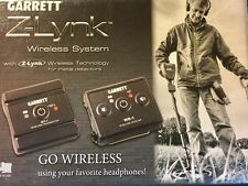 NEW Garrett Z-Lync Wireless Audio For Metal Detectors. Clear Fast Wireless Audio