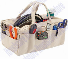 Rectangle Canvas Tool Tote Riggers Tool Bag Bucket 24 Pockets Portable