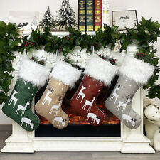 Christmas Stockings Sack Candy Gift Bag Storage Pouch Xmas Tree Hanging Decor