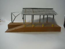 Open air covered freight dock HO Scale custom built