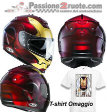 Casco integrale moto Hjc IS 17 IS17 Ironman Iron Man Marvel Comics