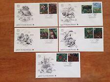 US 2001 FDC Great Plains Prairie 10 Stamps 5 Cvrs Unaddressed Artcraft PCS ! |