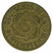 Deutsches Reich 5 Rentenpfennig 1924 E Randfehlprägung A53242