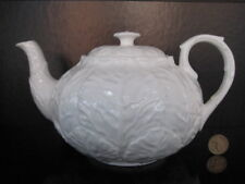 COALPORT COUNTRYWARE LARGE TEAPOT WHITE ENGLISH CHINA WEDGWOOD CABBAGE WARE 1ST