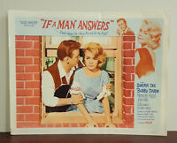 1962 IF A MAN ANSWERS lobby card SANDRA DEE/BOBBY DARIN 11x14 movie poster