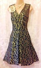 Bnwt (rrp £160) SOMERSET by ALICE TEMPERLEY (14/16) Black & Gold Party Dress