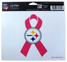 Pittsburgh Steelers Breast Cancer Ribbon Ultra Decal