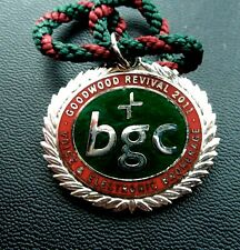 GOODWOOD  REVIVAL MEETING BADGE & CORD FOR 2011 - VOICE & ELECTRONIC BROKERAGE