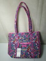 NWT Vera Bradley Iconic Vera Tote Bag Pink Kaleidoscope Teal MSRP $80